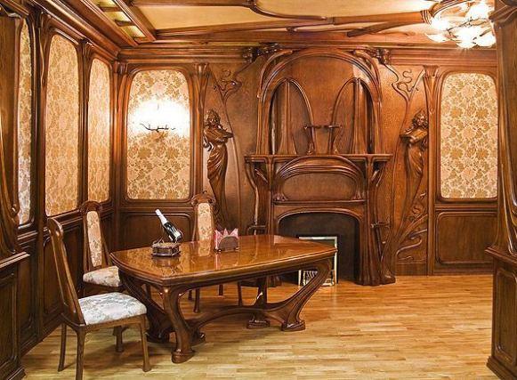 Дизайн интерьера гостиной кабинета