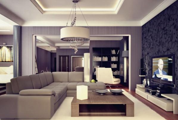 Дизайн интерьера трехкомнатной квартиры